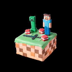 Tort dziecięcy Minecraft D03